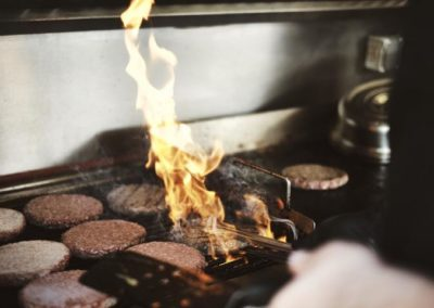 Burger action im Foodtruck